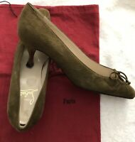 Louboutin Brown Heels Suede Pointy Toe Sz 8  Or  38