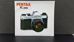 PENTAX ORIGINAL K1000 camera  Owner's Operating Manual Instructions guidebook
