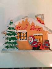 Vintage Christmas Card Holder Mail Box Wooden Collapsible Made in Japan 1950's