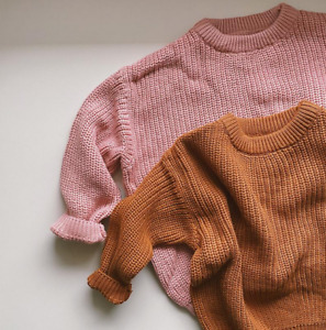 Knitted sweater for boy and baby