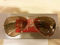 OCCHIALI DA SOLE SUNGLASSES 3025 AVIATOR LARGE METAL Colore 001/3E GOLD 58