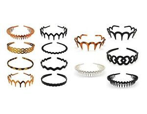 5-8 Pcs Black Brown White Set Men Women Toothed Hairband Headband Sharks Tooth