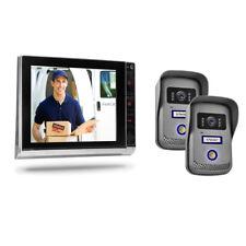 """8"""" TFT Video Türsprechanlage Gegensprechanlage zwei 2 Eingänge Klingel Kamera"""