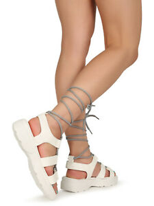 Bamboo Open Toe Lace Up Sneaker Sandal 20085