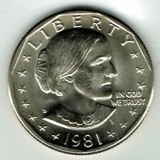 1981-D Denver Susan B Anthony Brilliant Uncirculated from Mint Set Dollar Coin!