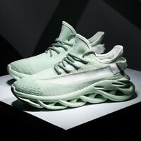 Fashion Men Athletic Sneakers Mesh Breathable Gym Running Walking Casual Shoes 2
