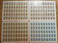 Ungarn 2856,2857,2859,2860 Motiv Vögel Birds kompl. Bögen gestempelt Bogen used