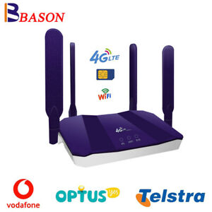 CPE LTE Modem 4G Router Mobile Sim Card WiFi Hotspot For Telstra Optus Vodafone