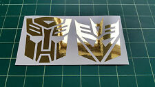 Stickers Calcomanías Transformers Autobots & Decepticons conectar los coches, autobuses, Tabletas, Pared