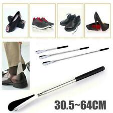 "Extra Long Handle Shoe Horn Stainless Steel 25"" Handled Metal Shoehorn Horns"
