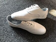 Ted Baker Mens White Leather Lace Up Shoes In Box - Size 9