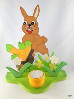 Teelichthalter Osterhase aus Holz Blume Handarbeit Ostern Hasen Kerzen