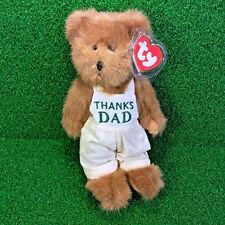 Rare Ty Attic Treasures Dad The Bear Retired Father's Day Jointed Plush MWMT