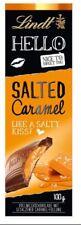8 x LINDT HELLO CHOCOLATE SALTED CARAMEL 100g - GERMAN CANDIES !
