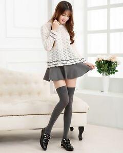 Female TC Knee High Socks Petite Size Multi color 77% Cotton