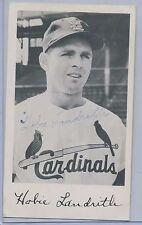 1957 St Louis Cardinals Postcard Type 7 Hobie Landrith Autograph