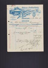 Arnstadt, invoice 1907, H. W. Bachmann's WWE. Hats-stoffhut Factory