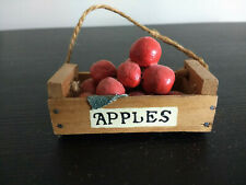 Miniature Wooden Apple Crate for your indoor garden