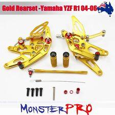 Gold Rearset Rear Set Foot Pegs Rest Yamaha YZF R1 2004-2006 YZFR1 04 05 06