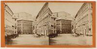 Genoa Palais Da La Poste Italia Foto Stereo Vintage Albumina c1865