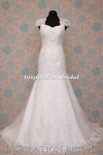 Lace Queen Ann Mermaid & Trumpet Polyester Wedding Dresses