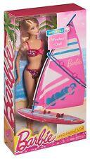 Barbie Lets Go Windsurf Girls Pretend Play Doll and Windsurf Set CCV23