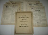 LOT Vintage 1930's PHILCO Radio Wiring DIAGRAMS & BULLETINS for Various MODELS
