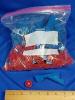 HUGE LOT Ertl Replacement Parts Wheels Rims Model Toy Blue Red Car Airplane