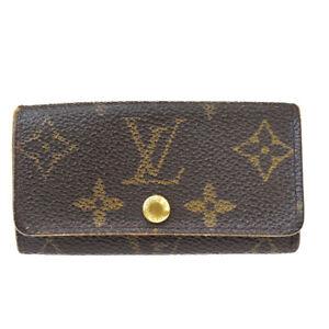 Auth LOUIS VUITTON Multicles 4 Hooks Key Case Monogram Leather BN M62631 08MH711
