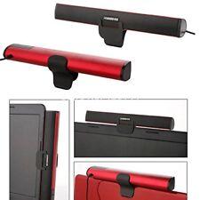AKORD Portable Laptop /Computer/PC Speaker USB Soundbar Sound Bar, Red