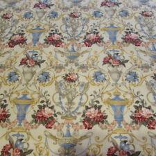 Tissu Vintage Style Empire Victorien Fleurs Anges 47 cm x 55 cm 100%Coton Neuf
