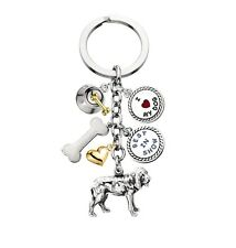 Bloodhound keyring (keychain) with charms