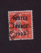 N°38 PREOBLITERE 30 C ROUGE SEMEUSE POSTE FRANCE 1922