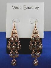 Vera Bradley Rose Goldtone Clear Crystal Drop Chandelier Earrings 21913-G34958