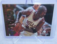 1995-96 Fleer Basketball Michael Jordan Total D Insert Card #3 of 12 BULLS