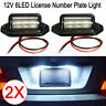 2* White LED Licence Number Plate Lights Lamps RV Trailer Truck Ute Boat Caravan