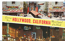 America Postcard - Greetings from Hollywood - California - Movie Capital   XX375