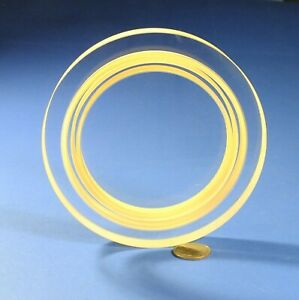"""5.5"""" Dia. Optical Test Plate/ Reference  Flat, 0.000001"""", 1/10 wave light bands"""