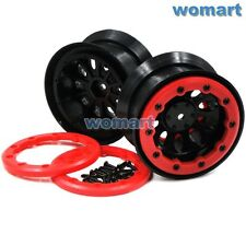 2pcs 2.2 beadlock wheels rims Fit 1/10 RC 4WD Axial LOSI Tamiya crawler 2.2 Tire