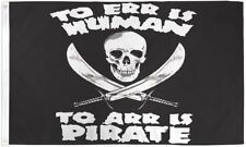 To Arr is Pirate 3x5' Flag New To Err is Human Banner Jolly Roger Jack Rackham