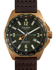 FILSON Men's Journeyman GMT Leather Strap Watch  44 MM WATCH  3 LEFT