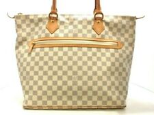 Auth LOUIS VUITTON Saleya GM N51184 Azur Damier DU0047 Handbag Damier Canvas