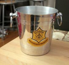 FRENCH CHAMPAGNE VEUVE CLICQUOT ALUMINIUM BUCKET / COOLER