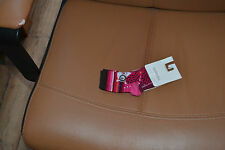 chaussette neuve catimini 15/18 fuschia fleurs tres mode*