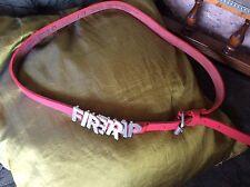 """FIRETRAP PINK LEATHER BELT SIZE MEDIUM 1"""" INCH METAL BUCKLE & FIRETRAP LETTERS"""