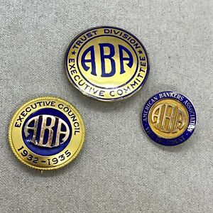 Vintage ABA American Banking Assoc. Vice President Executive Council Gold Pins