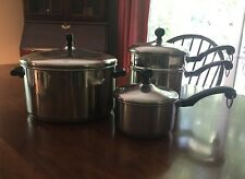 3 pc faberware stainless cookware