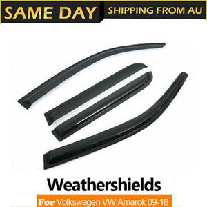 Weather Shields Window Visors Weathershield  For Volkswagen VW Amarok 2009-2020