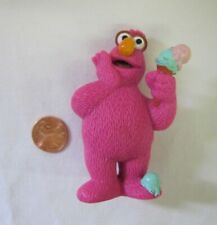 """Sesame Street TELLY PINK MONSTER PVC Figure TYCO Cake Topper Toy 3"""" 1997 Rare"""