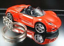 Porsche 918 Spyder Key Chain Ring Diecast Fob Red